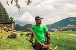 Bowhunting practice in Saalfelden Leogang   Summer in Austria