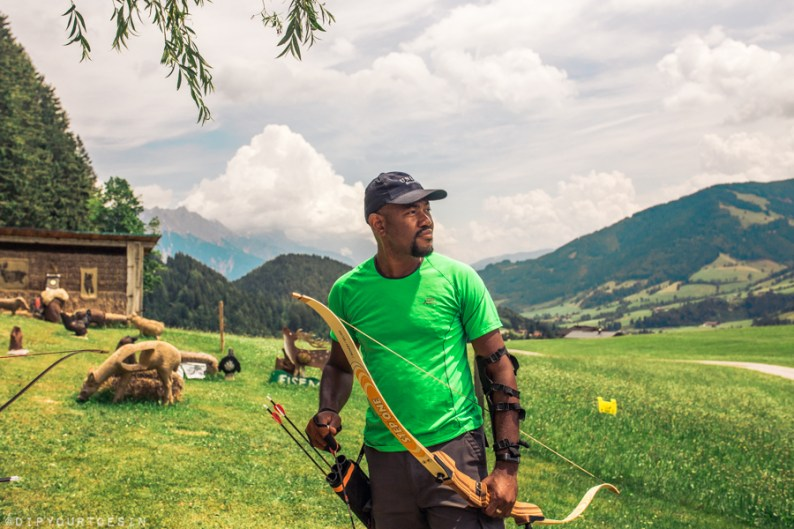 Bowhunting practice in Saalfelden Leogang | Summer in Austria