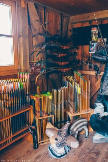 Inside archery shop Schosi 3D with Kurt Schossleitner
