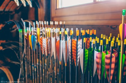 Arrows inside archery shop Schosi 3D with Kurt Schossleitner