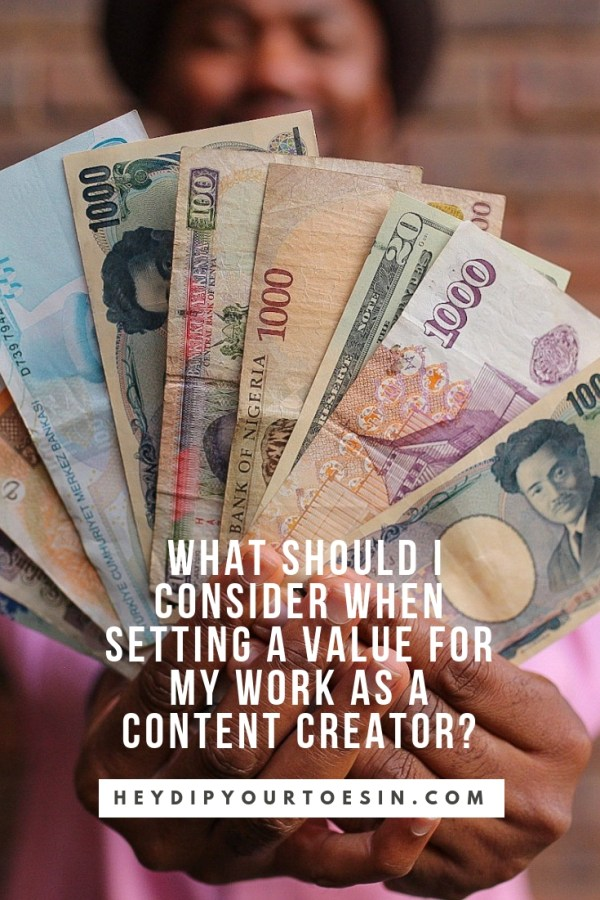 What areas to consider when setting pricing as a content creator