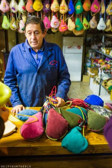 Felix Barbero makes Botas Rioja | Goatskin wine pouches | Logroño, La Rioja