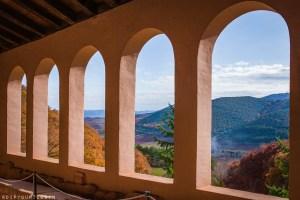 View of green hills from Monasterio de San Millán de Suso | La Rioja