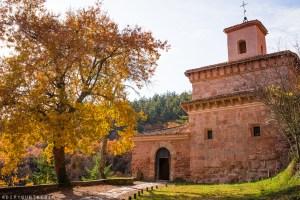 Autumn trees outside Monasterio de San Millán de Suso | La Rioja Turismo | Visit La Rioja