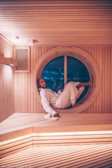 Sauna | Redemption Spa on Scarlet Lady by Virgin Voyages