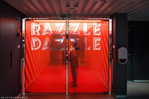 Entrance to Razzle Dazzle - Vegetarian Forward Restaurant on Scarlet Lady by Virgin Voyages