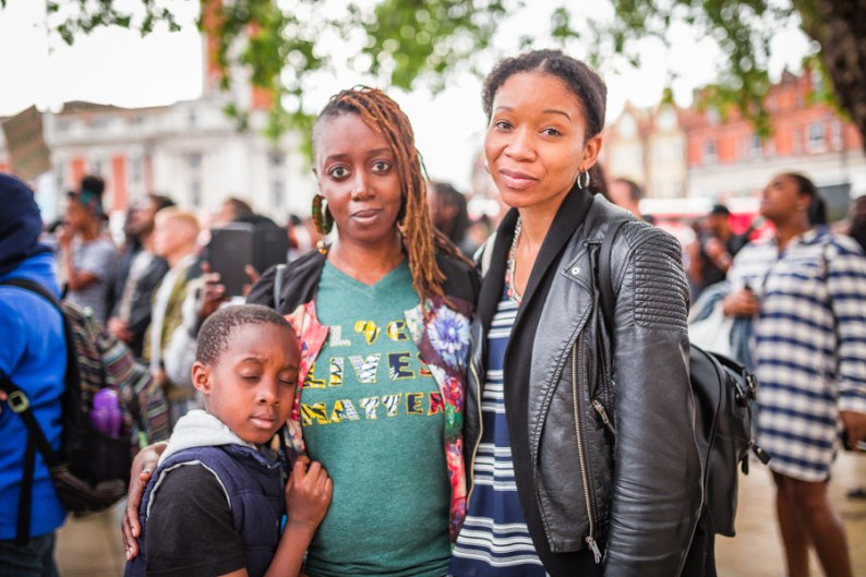 Black family attending Black Lives Matter Rally in London | Be An Ally to Black People