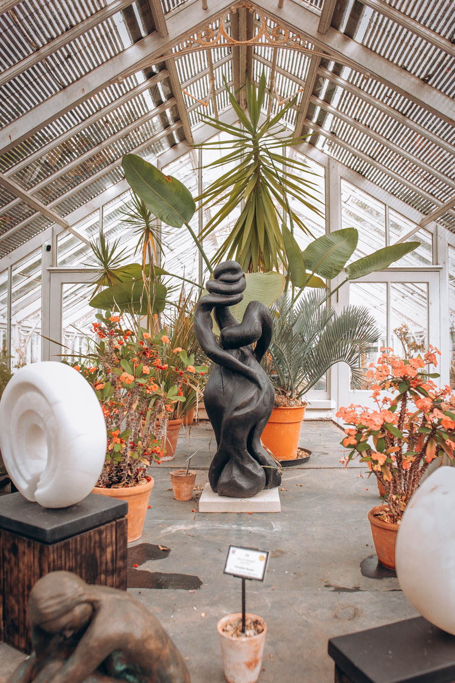 Sculptures at the 'Form in Nature' exhibition at Borde Hill Garden   West Sussex