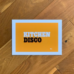 kitchen disco print