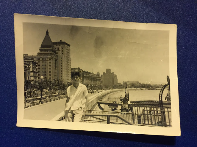 my dad, beechy hu, on shanghai's famous bund before he defected from china in 1966, in the early years of china's punishing cultural revolution.