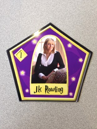 My JK Rowling Chocolate Frog card