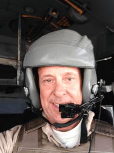Jim with helmet and flak vest