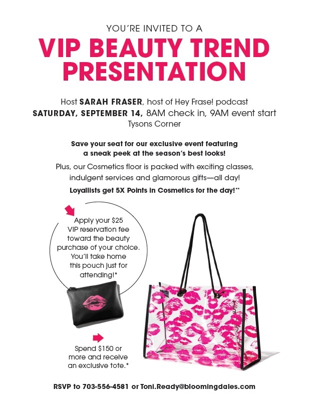 Bloomingdale's Fall Makeup Date At Tyson's