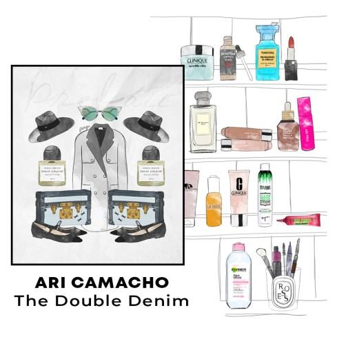 Illustrations for fashion blogger Ari Camacho