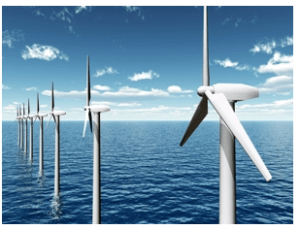off-shore wind turbines