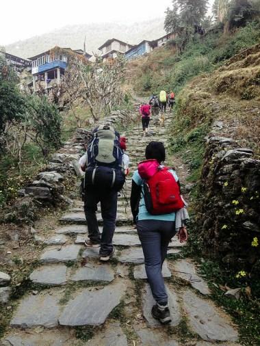 Endless stone steps
