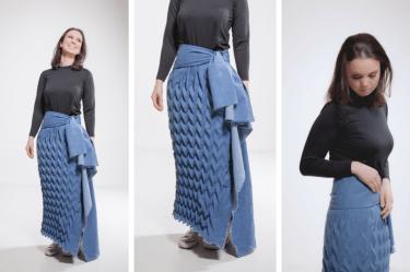 origami, design têxtil, jeans, aalto, finlândia, tecido, design, moda,