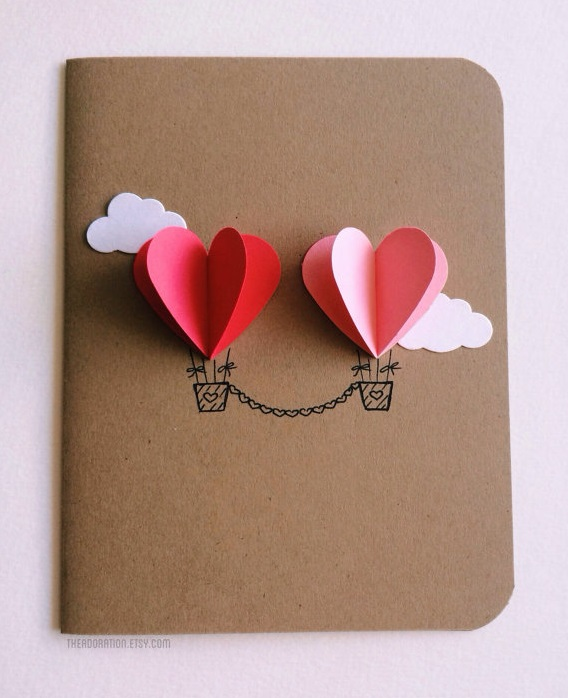 cards, valentines day cards, cute cards, be mine, hot air ballon, handcraft, valentines day, heart shaped, heart, diy, ideas, cute ideas