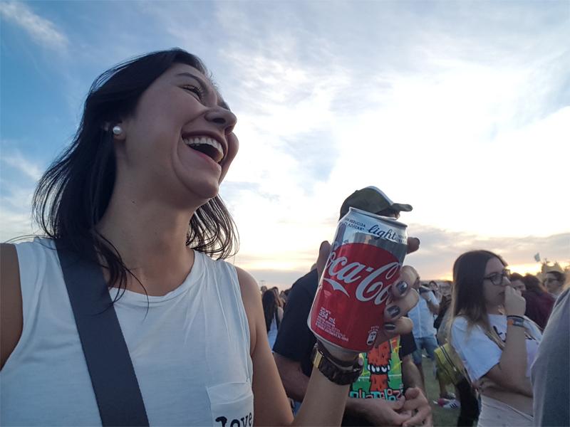 Coca light, festival, alegria, sorriso, Lollapalooza, Argentina, festival de música, Buenos Aires, Festival álcool free, festival sem álcool