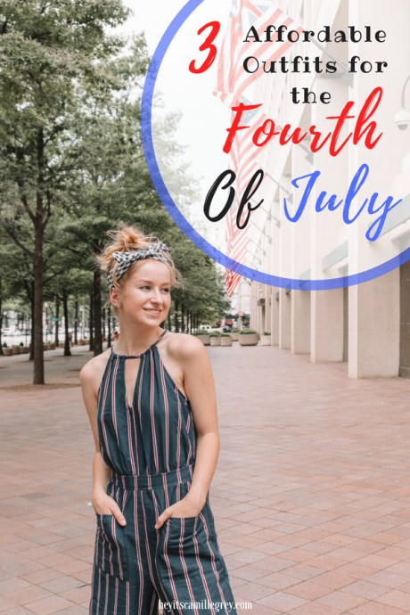 Three Affordable Outfits fort the Fourth of July