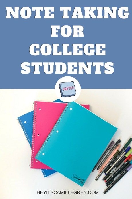 Note Taking for College Students | Hey It's Camille Grey
