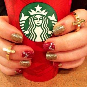 How'd I do on my Holiday Starbucks Nails?!