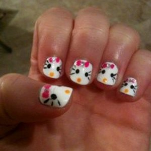 How'd I do on my latest nail designs?!