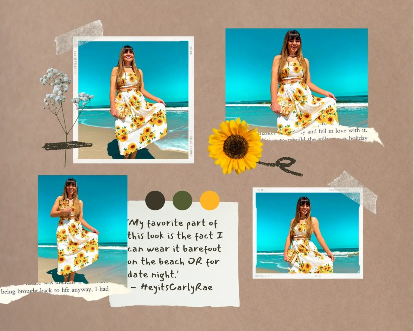 Sunflower outfit two piece set