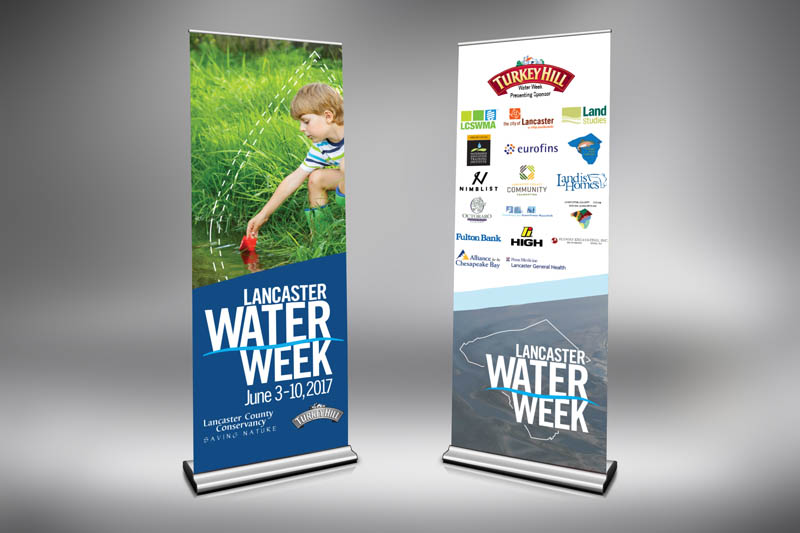 Banner Design, Lancaster Conservancy's Water Week