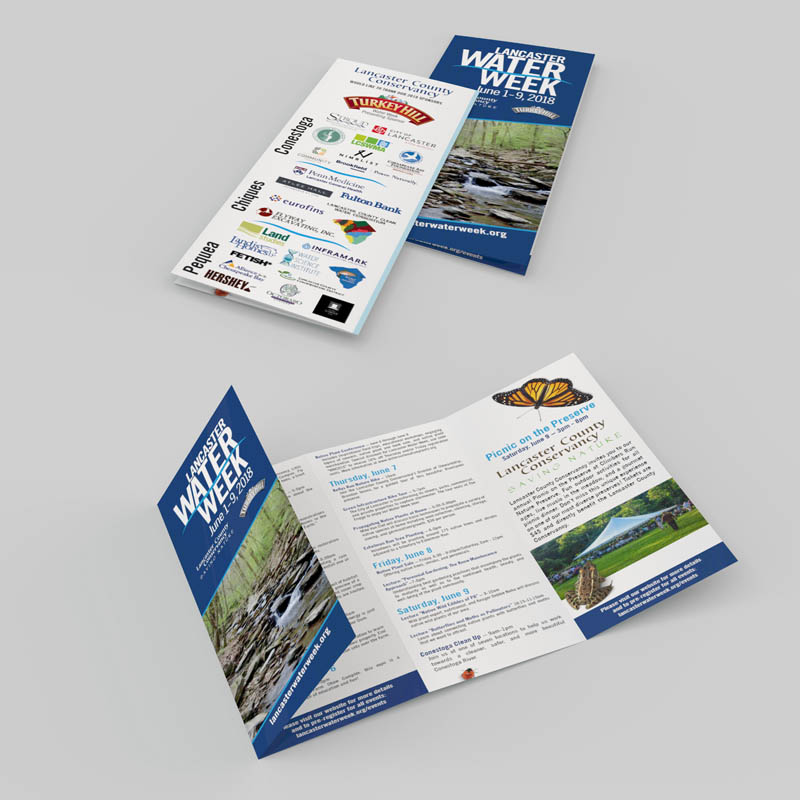 Brochure Design, Lancaster Conservancy's Water Week