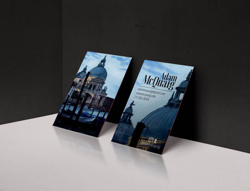 Business Card Design, Adam McQuaig Art