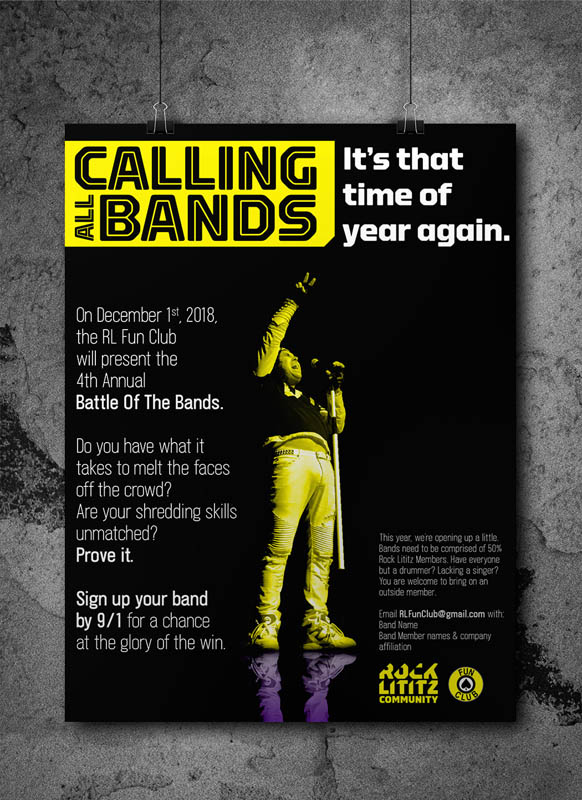 Poster Design, Rock Lititz Battle of the Bands