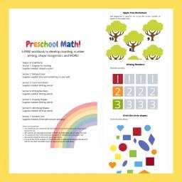 Image describing preschool math workbook