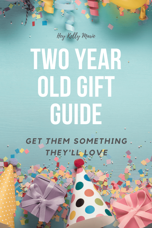 Pinterest pin advertising the two year old gift guide