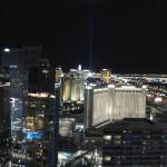 View Las Vegas at night