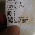 Star Wars ticket