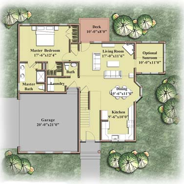 House Plan 1 colored