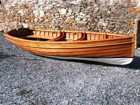 Traditional Wooden Clinker Rowing Boat3