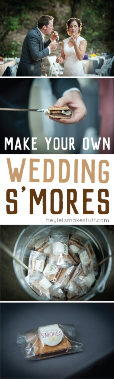 Wedding s'mores for your guests are a delicious and creative way to share a sweet treat at a wedding instead of cake!