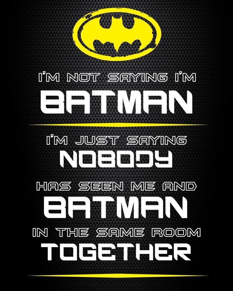 Batman printable sign