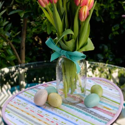 Quilted Easter Table Topper from Selvages