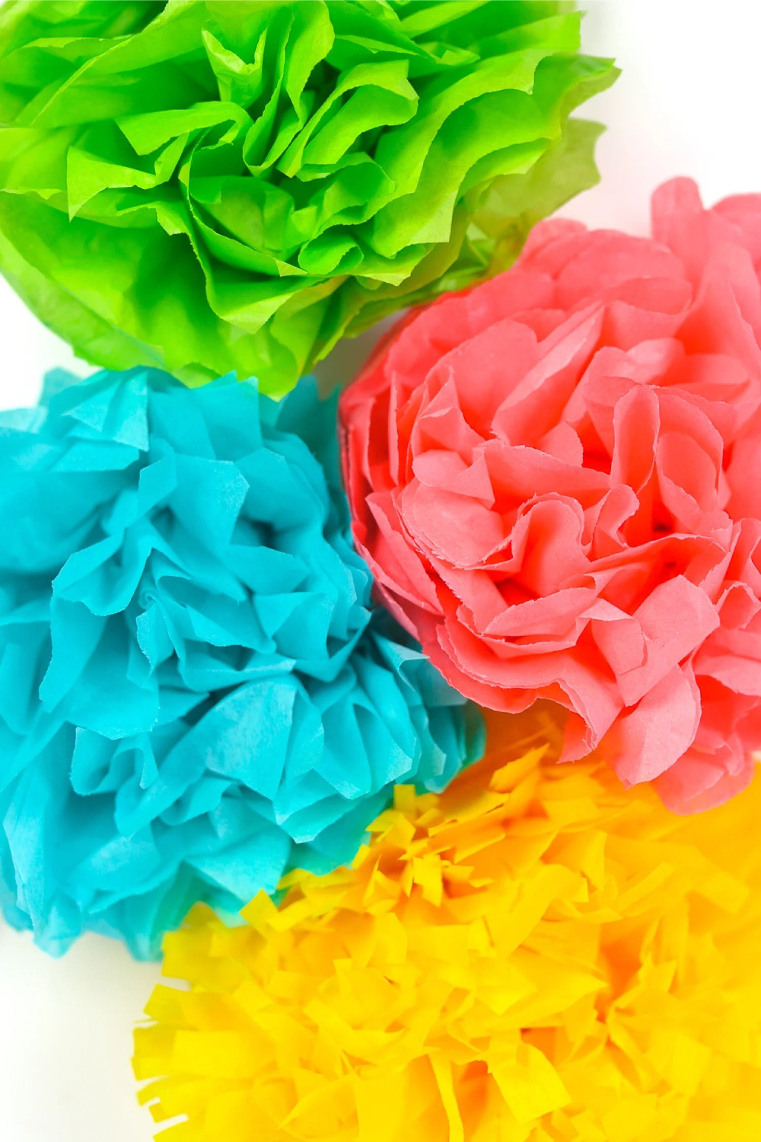 How To Make Tissue Paper Flowers Four Ways Hey Let S Make