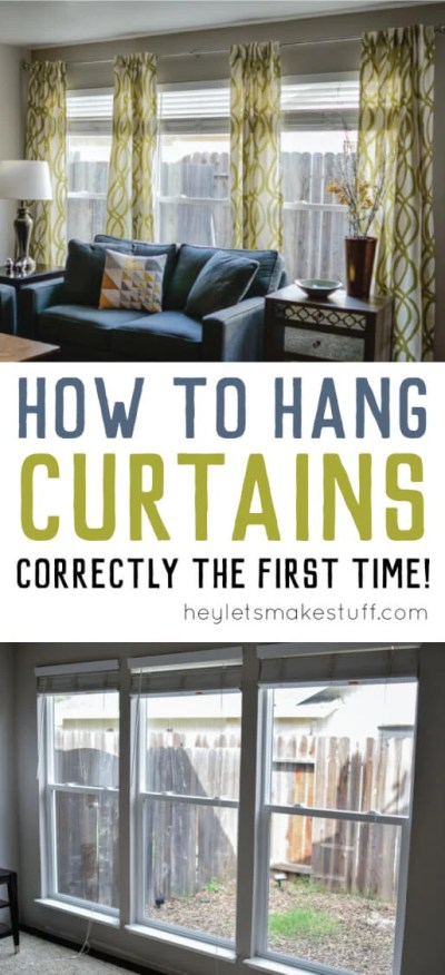 Hanging curtains doesn't have to be a pain! Learn how to hang curtains straight -- and keep the curtain rod from coming out of the wall!
