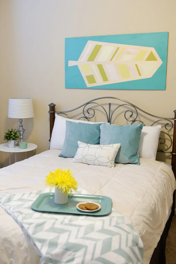 Our budget bedroom makeover was a combination of DIY projects, thrifting, and savvy shopping. This is a total transformation for less than $200!