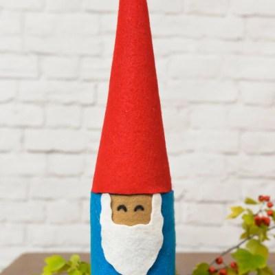 Mason Jar and Felt Gnome