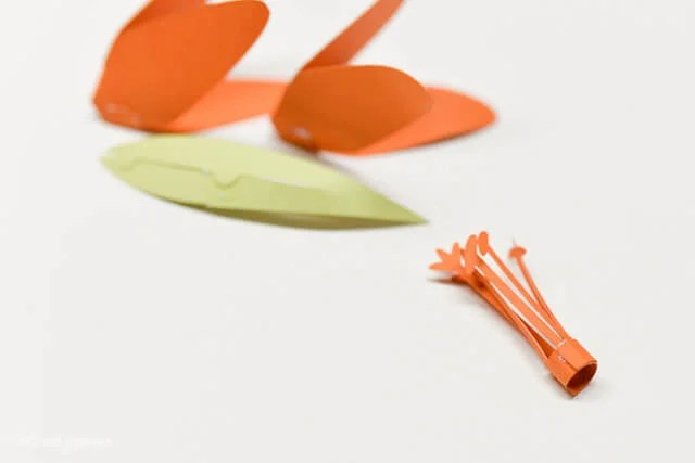 How to Assemble the Cricut Tiger Lily - How to Assemble Pistil/Stamen