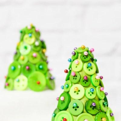 DIY Button Christmas Trees