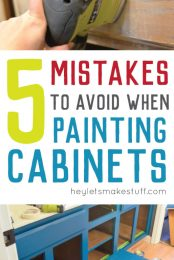 Avoid these mistakes when painting cabinets and you'll paint your cabinets right the first time!