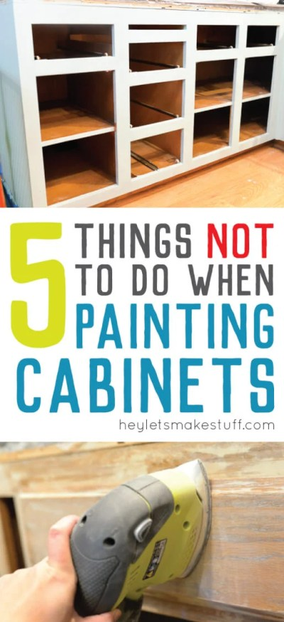 I learned a lot when painting our bathroom cabinets. Avoid these mistakes when painting cabinets and you'll paint your cabinets right the first time!