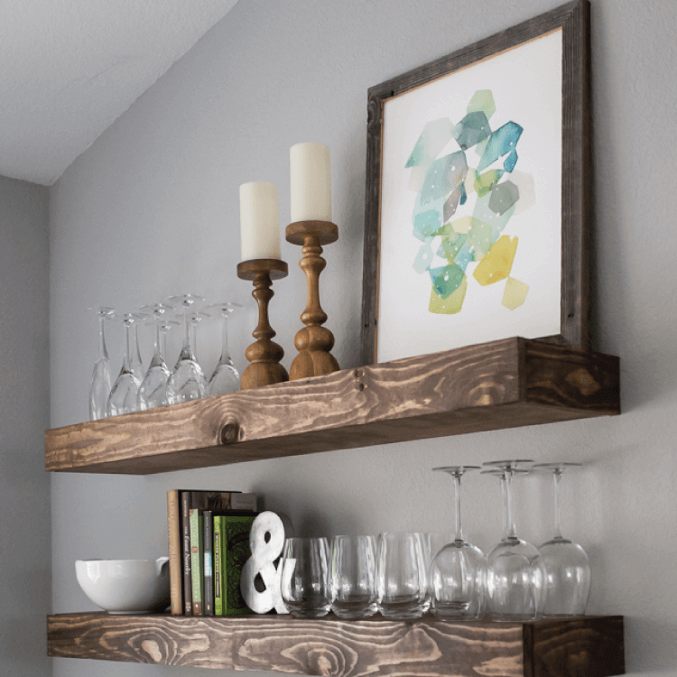 6c2d978116 Create Dining Room Storage with Floating Shelves - Hey, Let's Make Stuff